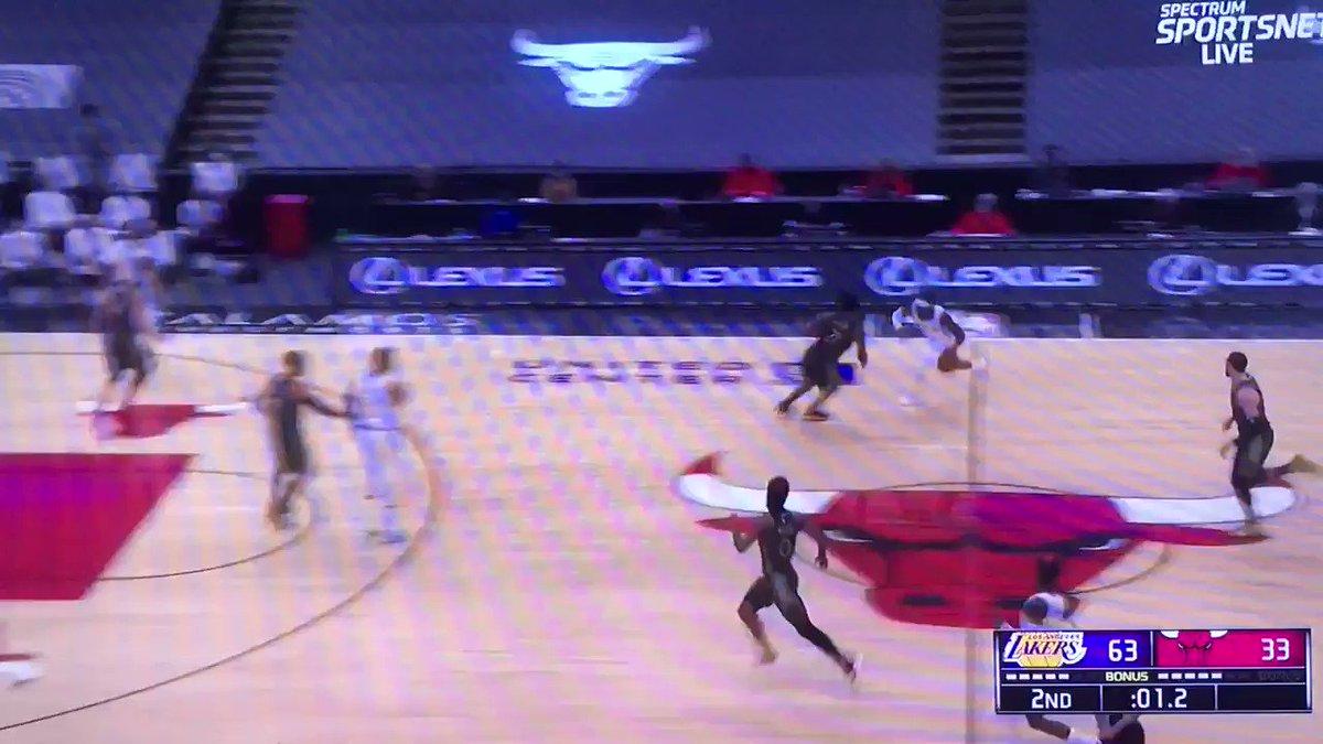 KCP!!' Bang 🔥🏀 up by 30 at the half go @Lakers #LakeShow #lakersfamily #nba #NBATwitter