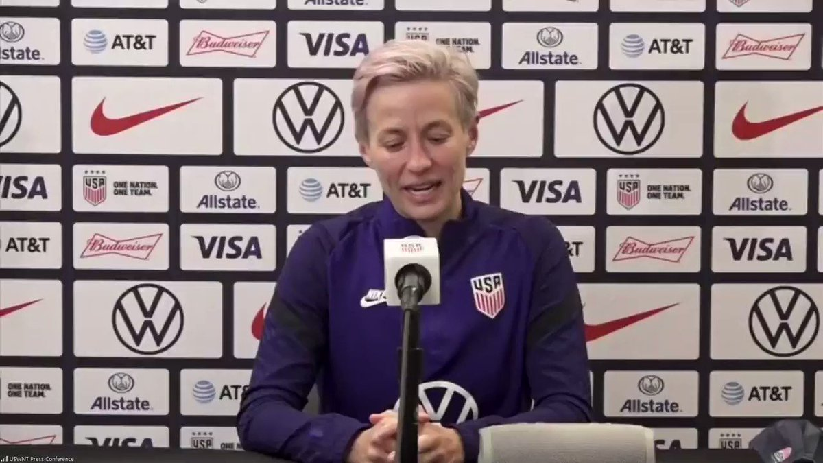 """""""That would be awful. Personally, I would be devastated.""""  - said Megan Rapinoe.  The @USWNT forward @mPinoe believed she would be """"devastated"""" if #Tokyo2020 are cancelled.  The #USWNT win 6-0 over Columbia in #USAvCOL on Friday.  #coronavirus #Japan #USA @Tokyo2020"""