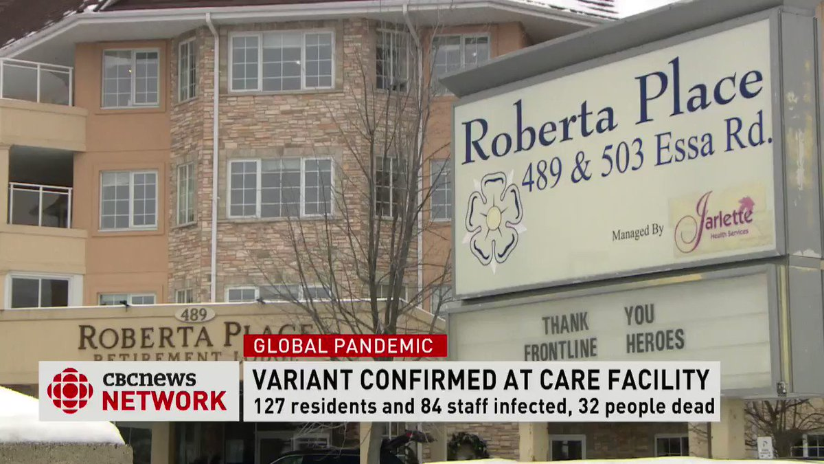 OH SHIT—Outbreak infects 124 of 127 nursing home residents & half the staff with #COVID19 in Ontario 🇨🇦. 29 people have died. Worse—#B117 variant is now confirmed in 6 of 6 samples—but expert believes widespread. Patients with #COVID19 even shared rooms!