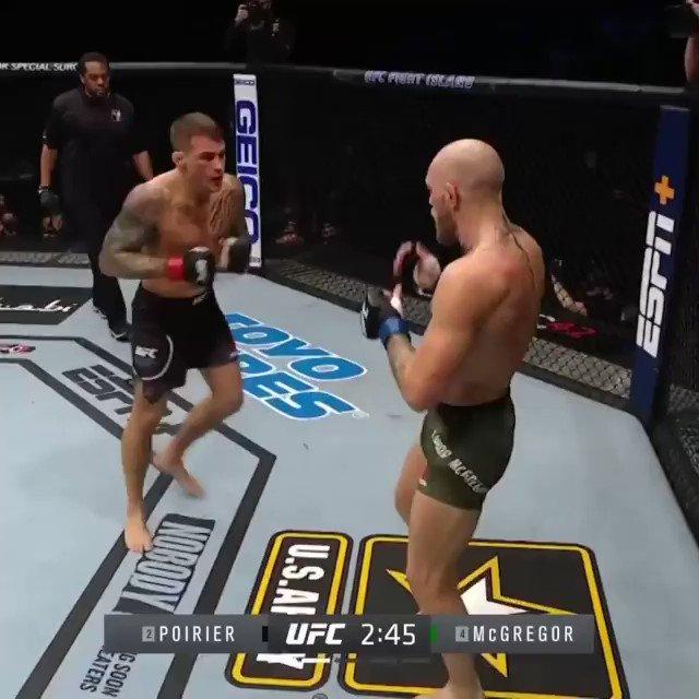 À froid c'est encore plus effrayant cet enchaînement de Dustin Poirier pour finir Conor McGregor 😰💎 #UFC257