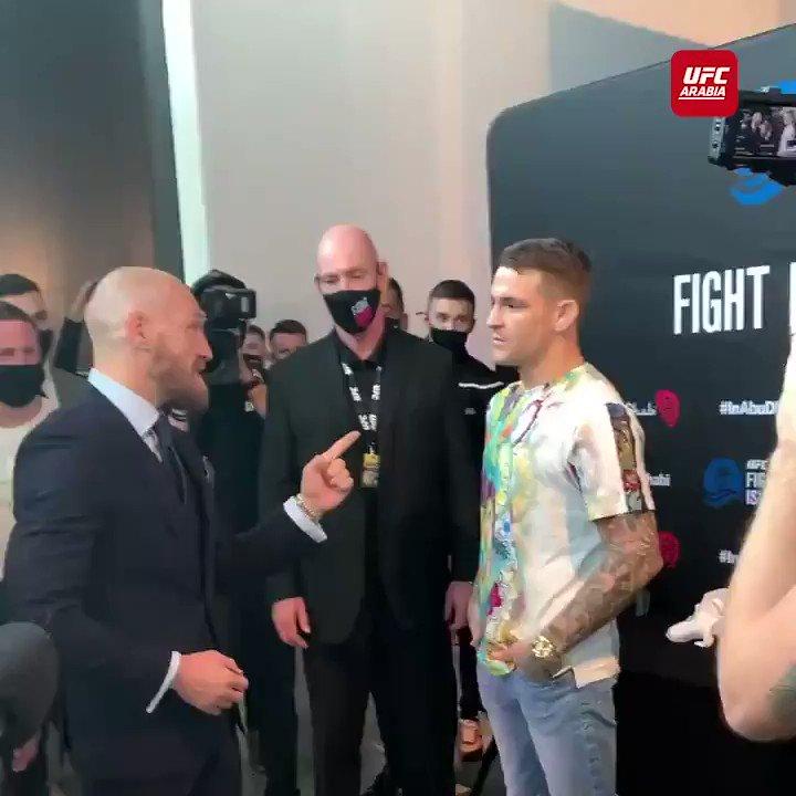 Dustin and Conor.. كلمات أخيرة بعد النزال الرئيسي في جزيرة النزال  #UFCFightIsland  #UFC257 #InAbuDhabi   لمشاهدة النزالات مباشرة وحصرياً حمل تطبيق #UFCArabia