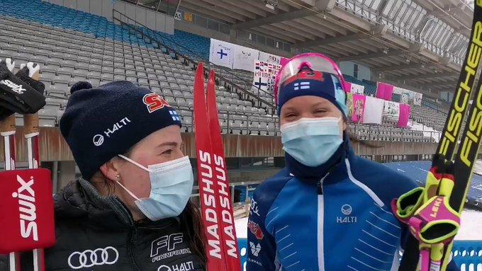 Suomen joukkue tänään viestissä kolmas. 🥉Kuuntele Pärmäkosken ja Niskasen...