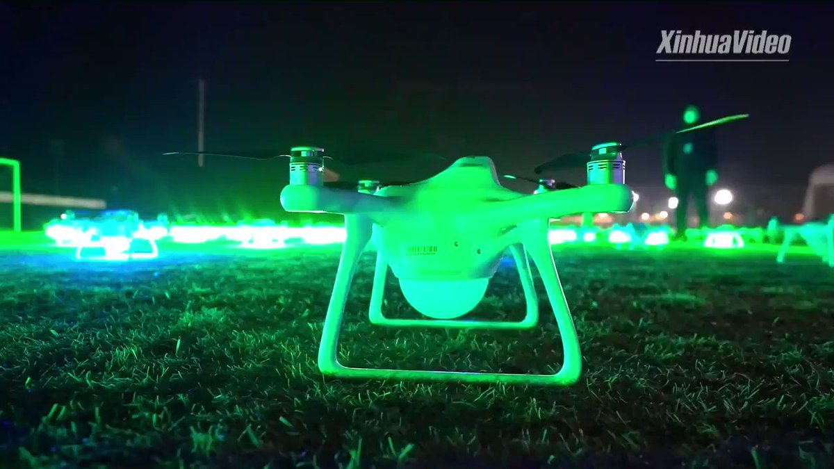 A new #Guinness World Record was set in North China's Tianjin for the longest animation performed by unmanned aerial vehicles (UAVs). https://t.co/l8GSGdkqQ1