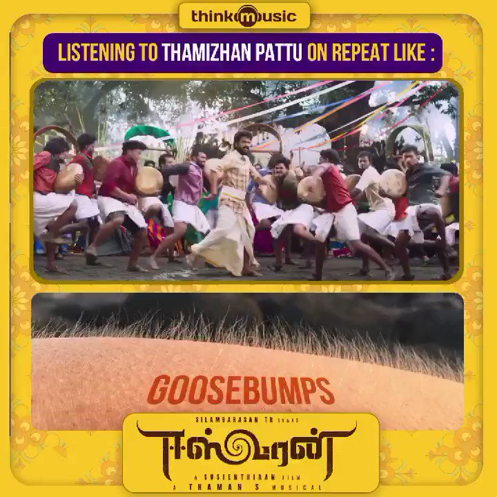 Pure goosebumps moment❤️ #ThamizhanPattu video song now playing  🔛  #Eeswaran   A @MusicThaman musical 🎵  @SilambarasanTR_ #Suseinthiran @madhavmedia @DCompanyOffl @offBharathiraja @AgerwalNidhhi @Nanditasweta #Ananthu #Deepak @YugabhaarathiYb