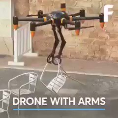 Lift and shift! World's first #Drone fitted w/ #Robotic arms by @futurism  #CES2020 #AI #Autonomous #IoT #FutureOfWork #TechForGood  Cc: @haroldsinnott
