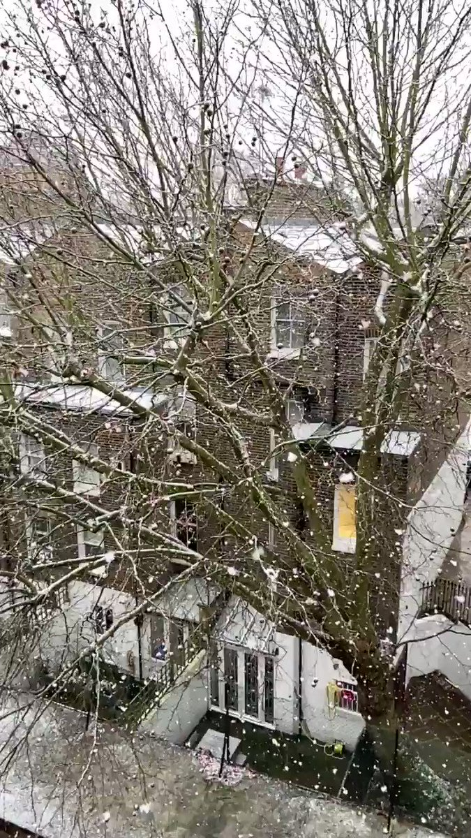 Slow mo' Snow ❄️  #Snow #Weather #Pretty #London #SlowMo