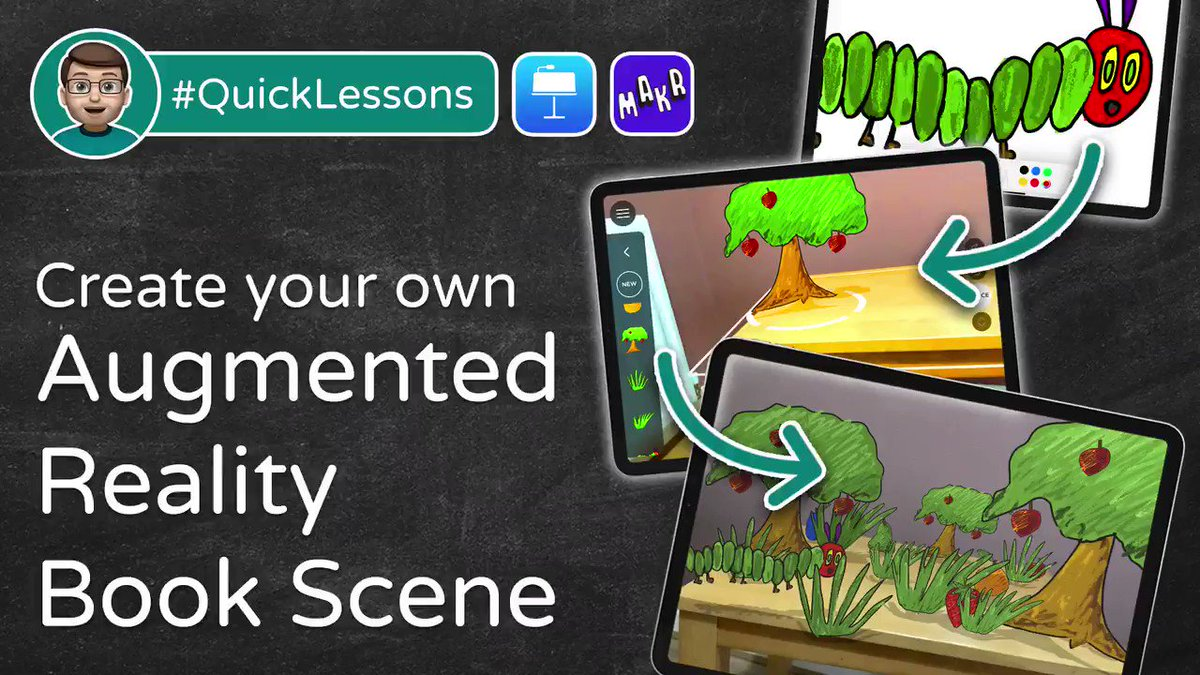 📕Fancy bringing your students favourite books to life? You can in my new #QuickLesson!  🤯Let's create an AR Book Scene using #Keynote + ARMakr on your iPad  Five friendly and easy-to-follow steps to ensure #EveryoneCanCreate  ➡️⬅️  #AppleEDUchat @AppleEDU