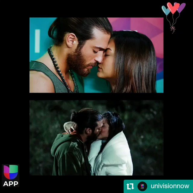 Which kiss was more romantic? Tomorrow begins a new week with more stories in Pájaro Soñador. #Repost @univisionnow #pajarosoñador  #DemetÖzdemir  #CanYaman #ErkenciKus #Canem #Candem #amor #romance #love #univisionnow #univisionapp