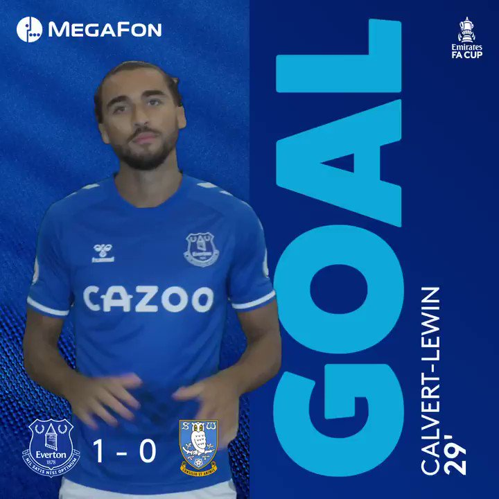Replying to @Everton: DCL IS BACK!!  🔵 1-0 🦉 #EmiratesFACup