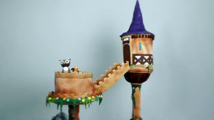 Image for the Tweet beginning: Our floating fairytale castle cake