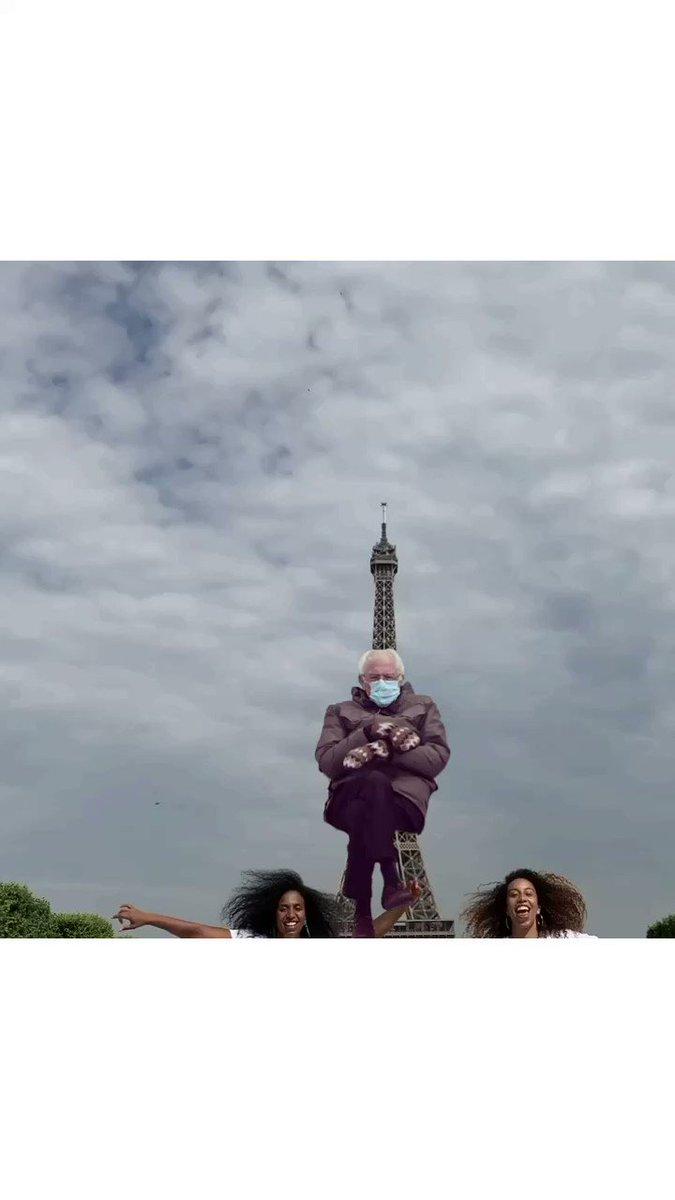 Bernie in Paris! @chloearnold #chloeandmaud