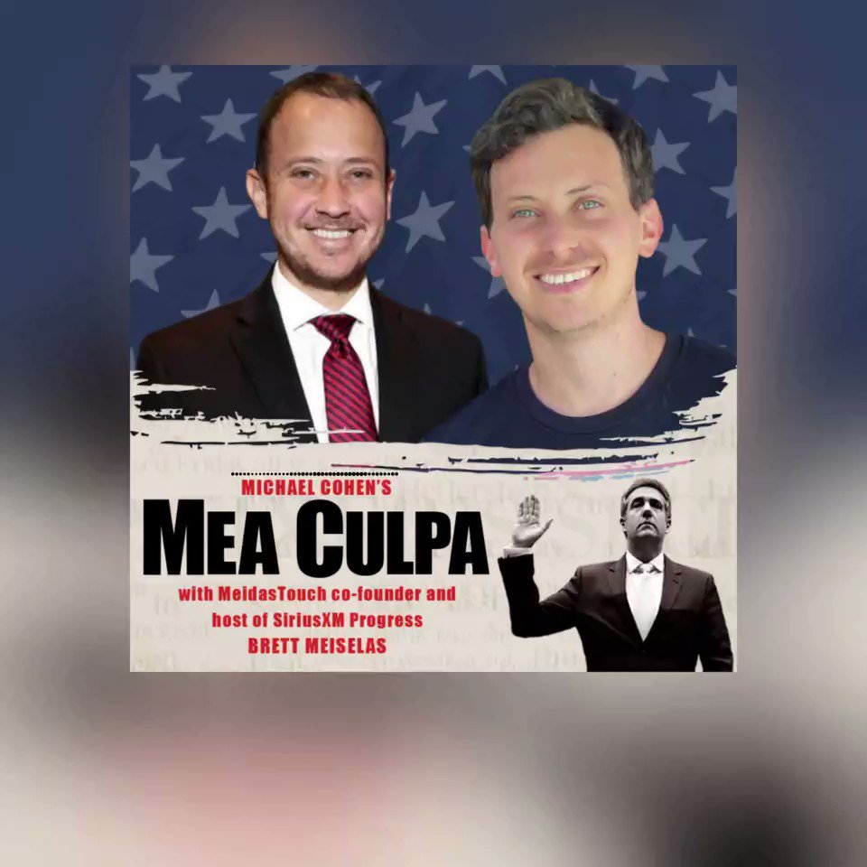 Sneak Peek: We are on the latest episode of the Mea Culpa Podcast with @MichaelCohen212 that drops at midnight eastern tonight! Subscribe now and get ready!