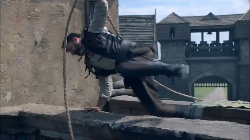 """Move! Garzan to the rescue! Kiddings away, that was a fantastic stunt, Captain Spears!👏👏👏 I suppose the word """"fear to the highs"""" isn't  familiar to you, isn't @JakeStormoen?😂 #TheOutpost #TheOutpostseries #Garret #GarretSpears #Blackbloods #Janzo #Warlita"""