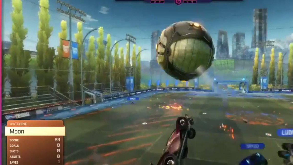 You can tell that @Mac__RL sending this shot from his own half took Ethnic Babes by surprise #RocketLeague #Esports   Watch more at