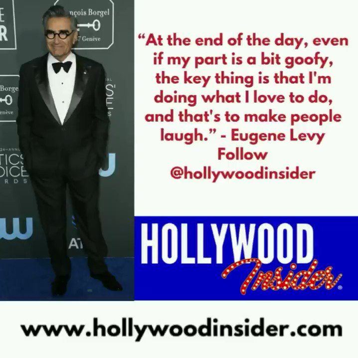 """""""At the end of the day, even if my part is a bit goofy, the key thing is that I'm doing what I love to do, and that's to make people laugh."""" – Eugene Levy 