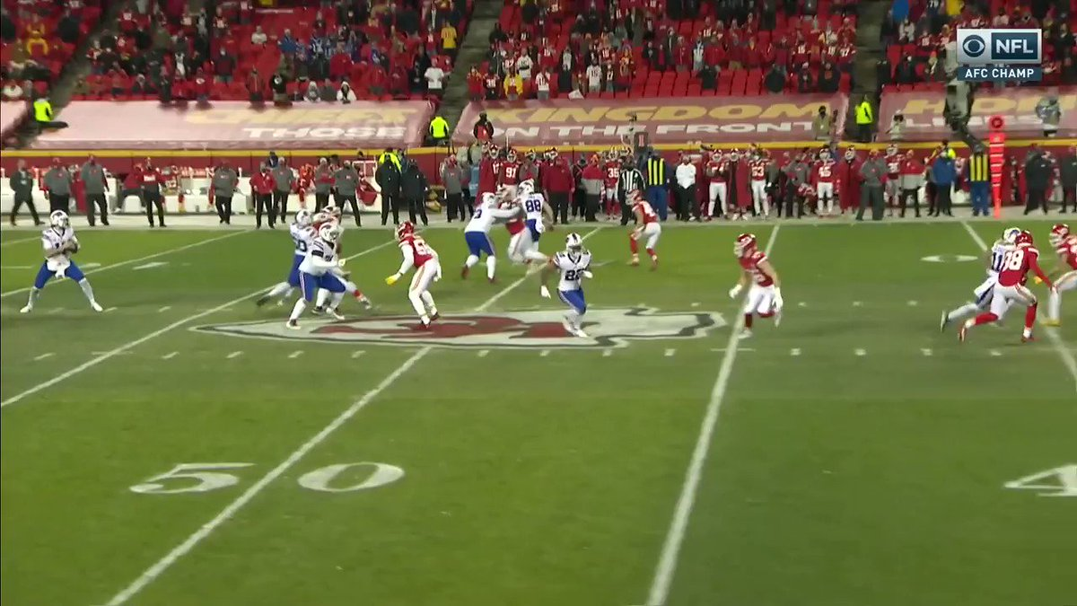 This throw from Josh Allen was ridiculous 🎯 @JoshAllenQB @BuffaloBills   📺 #BUFvsKC on CBS