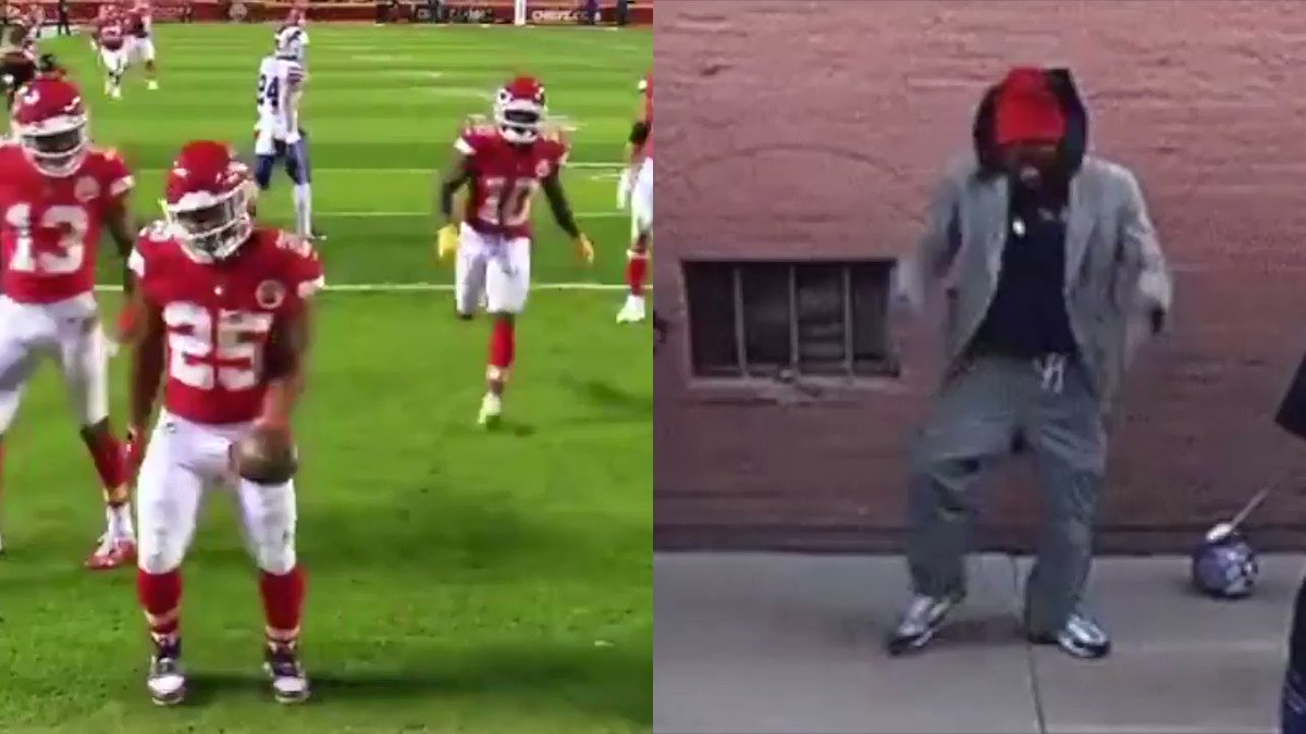 Replying to @TheUndefeated: Clyde Edwards-Helaire hit the Tyrone Biggums 😂   🎥 @NFL