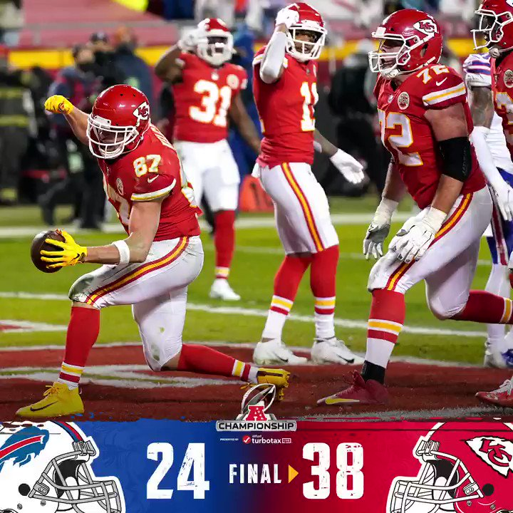 FINAL: Back-to-back AFC Championship wins for the @Chiefs! #NFLPlayoffs #RunItBack   (by @Lexus)