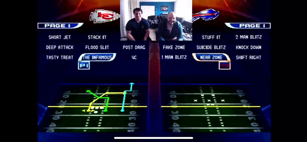#NFL Blitz going full send on this play #KCvsBUF #Playoffs featuring @TehNubcheeks as KC and myself as BUF