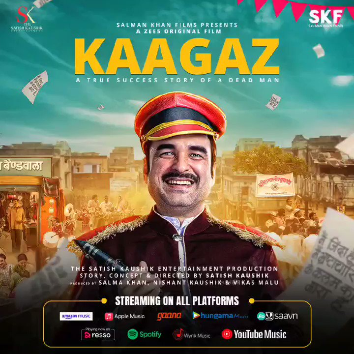 #Kaagaz album is now streaming across all streaming platforms. Tune in now! #ProofHaiKya