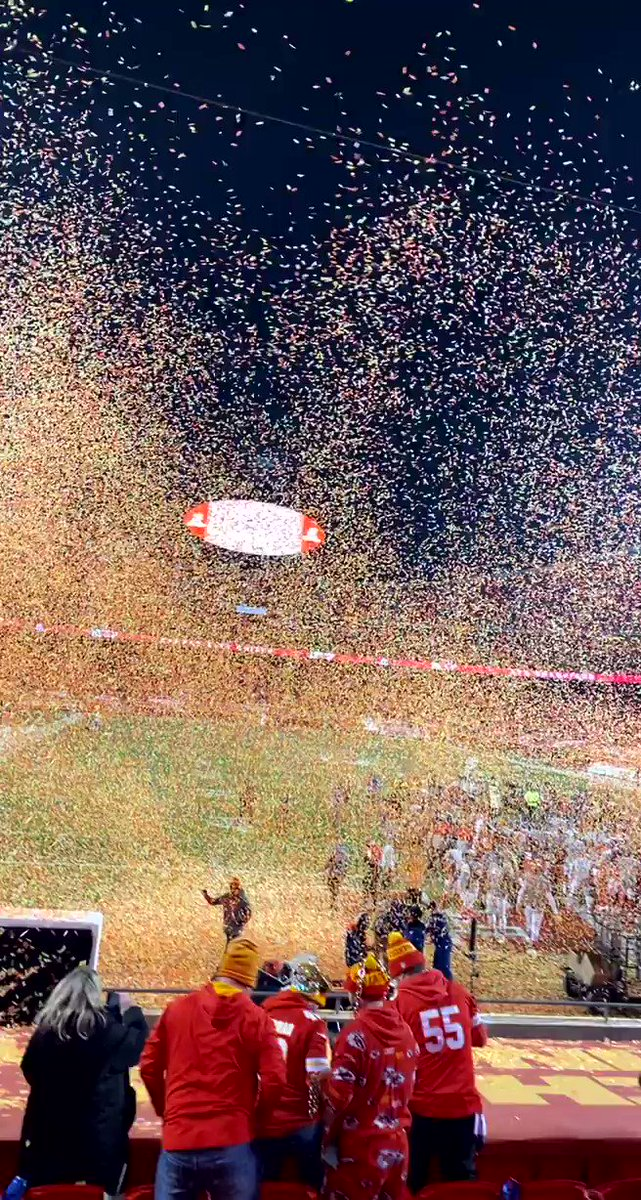 Confetti showers were legit #RunItBack #SuperBowlBound