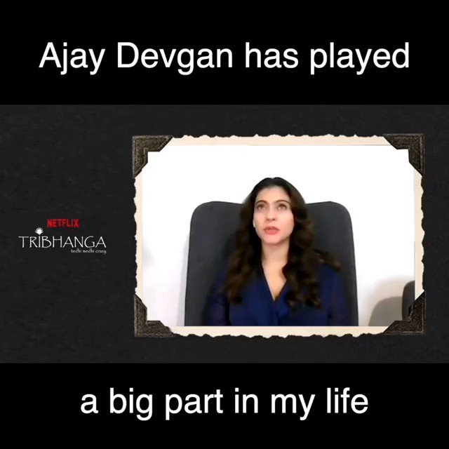 @ajaydevgn has played a very important role in my life: @itsKajolD   Catch the full video on my @YouTubeIndia channel:   Don't forget to like,share and sub!!  #SidK #Kajoldevgan #Ajaydevgan #Renukashahane #bollywood #Tribhanga @NetflixIndia