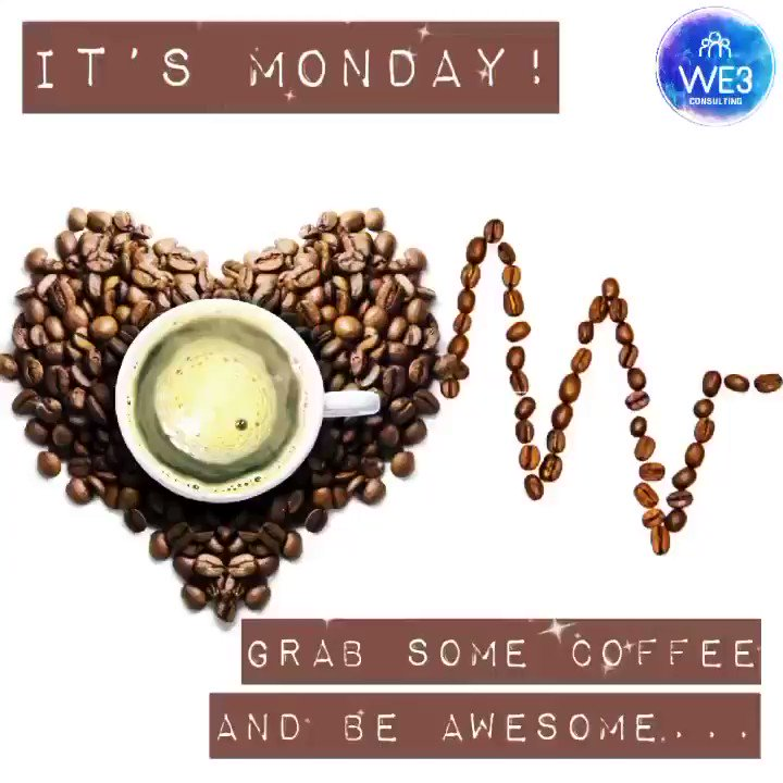 👋 - Here we go again... 😬 #HappyMonday ☕️ - Lets do this... Have a good week! 👍 . . . #Monday #MondayMotivation #MondayMorning #Coffee #CoffeeTime #PositiveVibes #PMA #WeAreWE3🔵