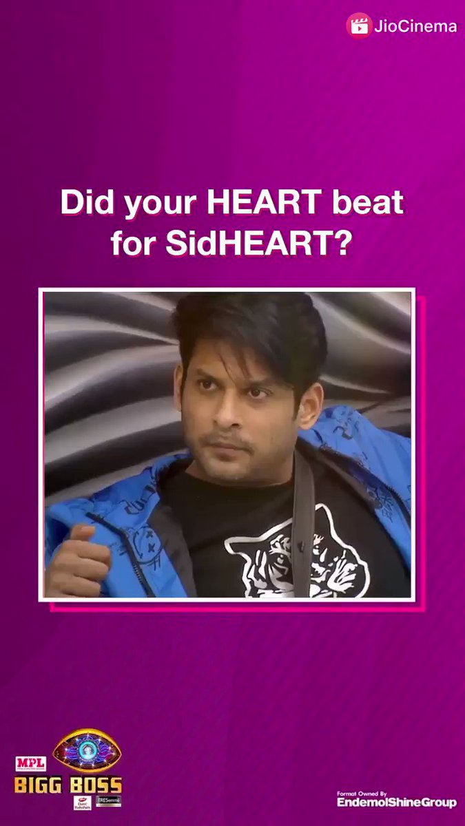 On the scale of 1-10 how excited are you to see @sidharth_shukla back in #BiggBoss14? 🔁 RT if you are EXCITED 😍  Watch #WeekendKaVaar on #JioCinema!   @BeingSalmanKhan #BiggBoss2020 #BiggBoss #BB14 #SidharthShukla #sidhearts