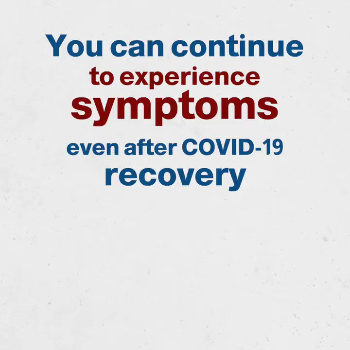 Symptoms such as fatigue, headaches, body aches, coughing, and more can continue to linger even months after recovery. #TimeToAbide #StopCOVIDNow @mophleb @MinistryInfoLB @WHOLebanon @UNICEFLebanon @UNDP_Lebanon