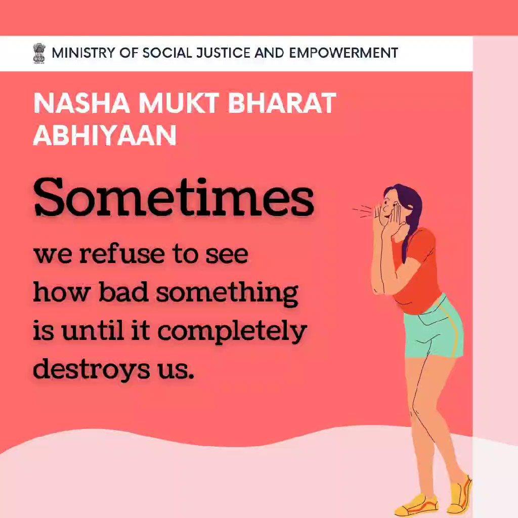 👨🏫 NashaMuktBharatAbhiyaan 👊 ⚡️⚡️ #mondaythoughts #HopeAgainstDope #FitIndiaMovement  #COVID19 #education #Twitter @UNODC @NMBA_MSJE @MSJEGOI