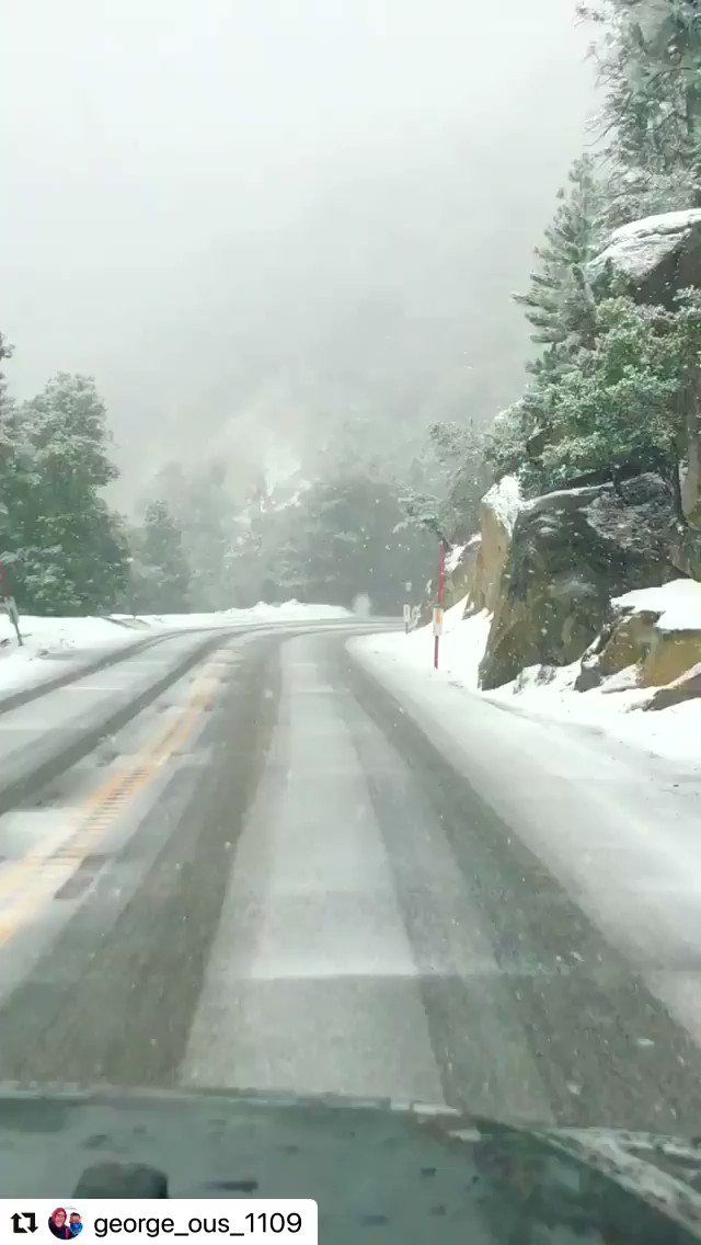 The drive up to Idyllwild is always so beautiful.  Insert Pretty Woman soundtrack song. Lol!   Icy!  Chain up.   #mountainbound #idyllwild #california #mountaintrip #offroading #jeeplife #snowday #couple #coupletrip #outdoors #naturelovers #weekendadventures 🏞✨