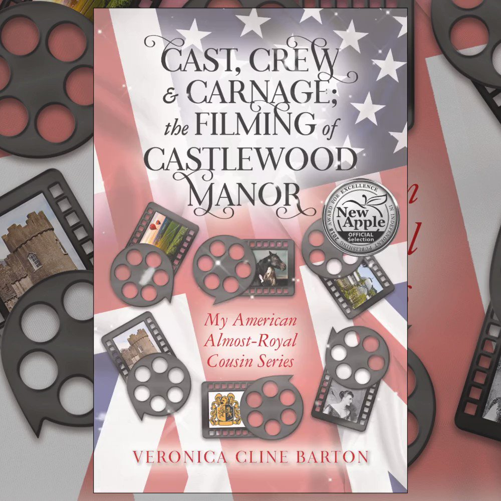 "💖Cast, Crew & Carnage: The Filming of Castlewood Manor👑  5⭐️""...#mystery, #romance, a delicious dash of wit & #danger blend into a thoroughly satisfying & irresistible #tale."" 💖👑🕵️‍♀️🍸 #CozyMystery #Romance #Royals #MurderMystery #BookLovers #WritersWhoRead #MondayVibes 🌹📚🌹"