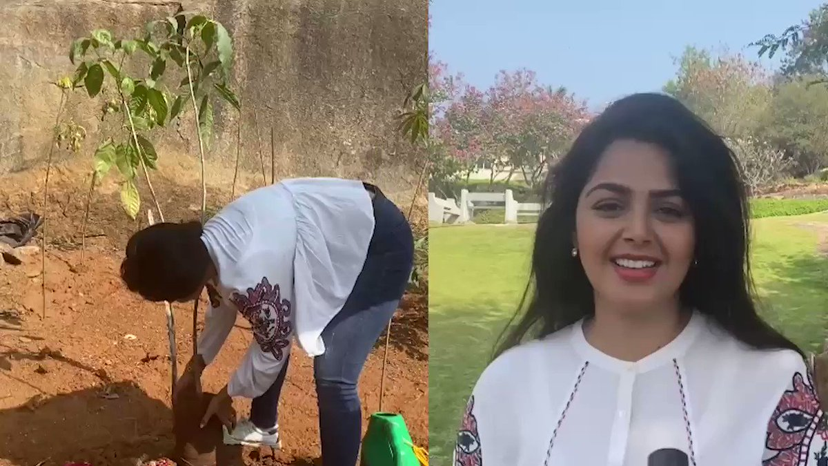 Thank you #MonalGujjar garu for accepting the nomination & planting the saplings under #GreenIndiaChallenge. Also for nominating your fabulous co-stars.    #GIC🌱🌱🌱.