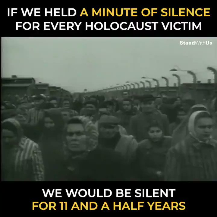 If we held a moment of silence for every victim of the Holocaust we would be silent for eleven and a half years. In the face of darkness, be the light.   #HolocaustMemorialDay  #HolocaustRemembranceDay