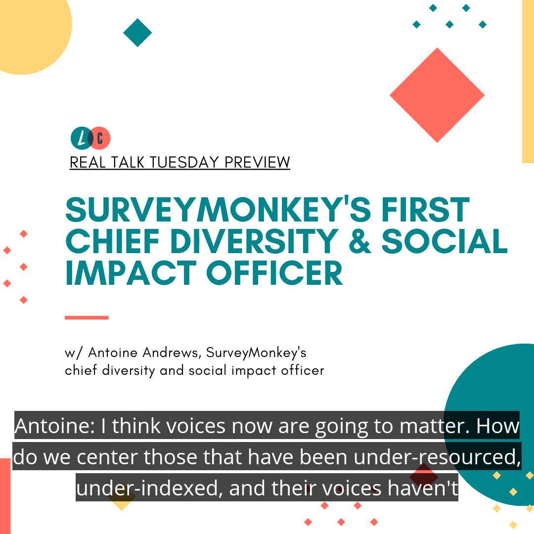 """Tomorrow, catch @SurveyMonkey's first 'Chief Diversity & Social Impact Officer' on the podcast """"Living Corporate."""" Subscribe now and don't miss this gripping interview:"""