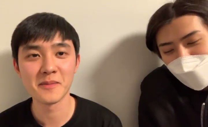 Sehun: Hey, but Kyungsoo hyung has rly been discharged. Kyungsoo: Of course, I've. Sehunnie rly congratulated me a lot. SH: Thus, since this is the start of a new year, I've decided to go to the mountains with Kyungsoo hyung. We're planning to go hiking & capture/film the summit~