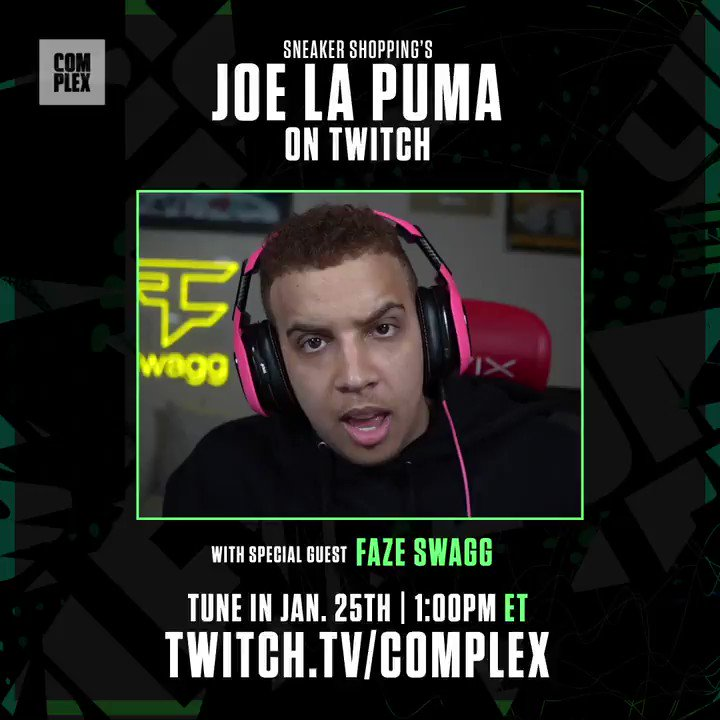 .@Swagg will be joining @JLaPuma on  at 1pm ET. Pull up and hang out in the chat.