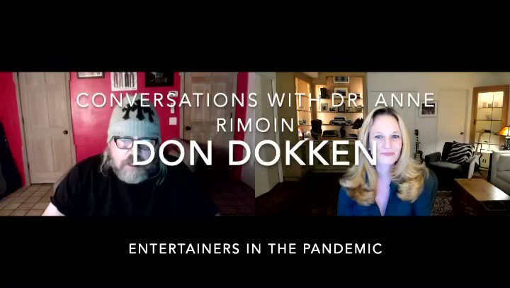 Watch Don and his good friend infectious disease epidemiologist Dr. Anne Rimoin @arimoin discuss Covid-19, getting vaccinated, what's happening now and when we can expect to return to concerts! Full video link 👉🏼  #dokken #dondokken #drannerimoin