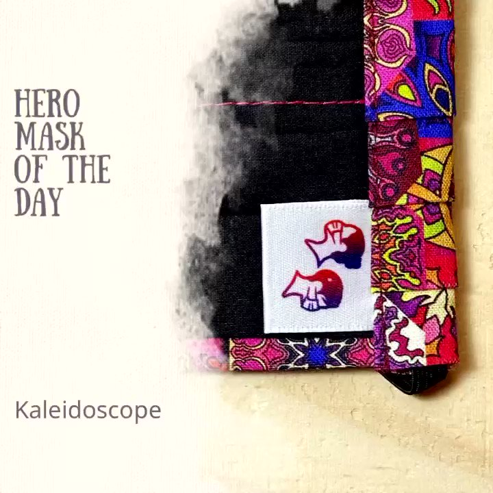 Hero Mask Of The Day - Kaleidoscope     #BeAHero #WearAMask ♥️  #MondayMotivation #Facemask #EtsyHandmade #GiftIdea #Coronavirus #COVID19 #PDX #BestOfPortland #StayHome #WashYourHands