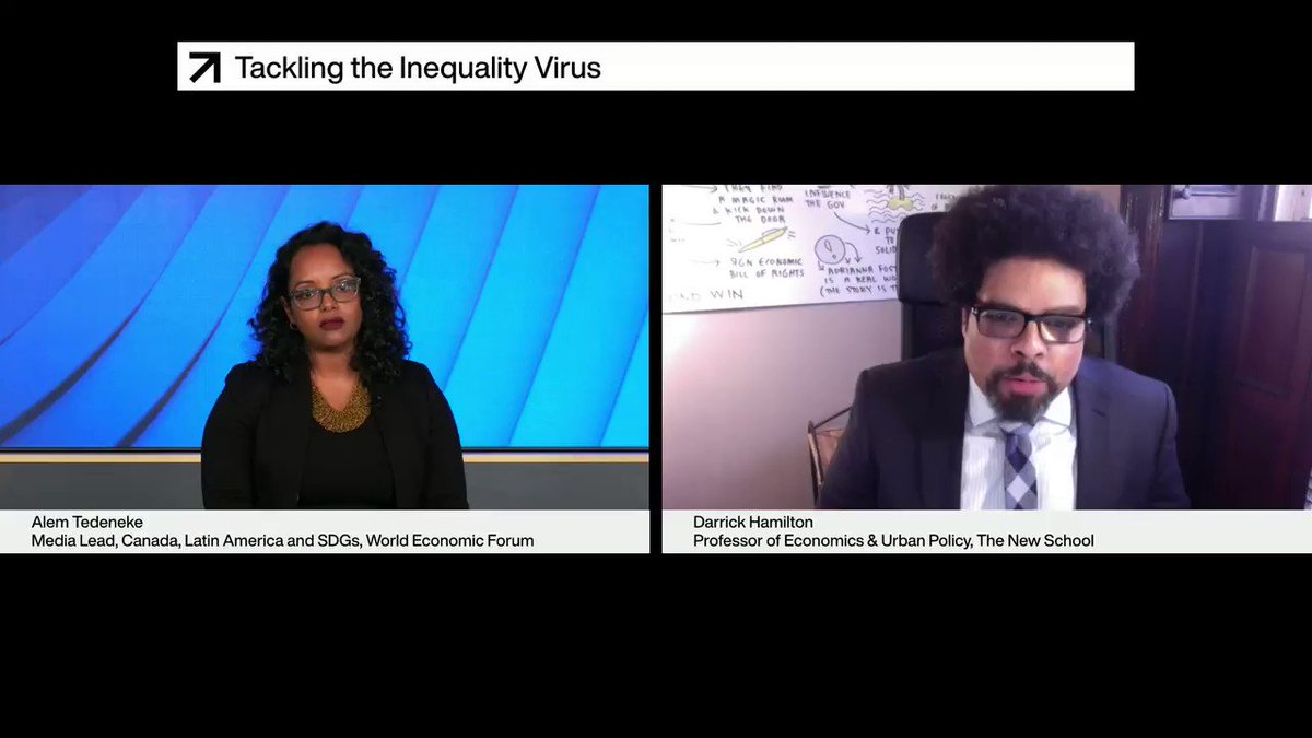 We need to transition towards economic rights, says @DarrickHamilton of @TheNewSchool. Even if not realised, civil and political rights have been ingrained in our psyche, but economic rights are at least as important.