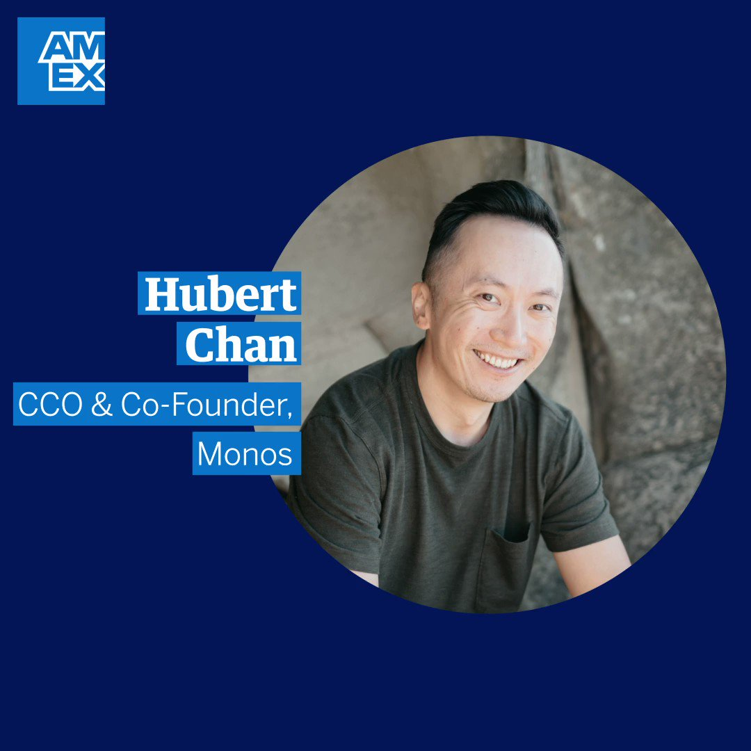 Hubert Chan, CCO & Co-Founder of @MonosTravel, has a message for fellow entrepreneurs: don't fear failure, it's part of the process. The Monos team knows that in failure we can learn, grow and become stronger. Trust your journey and believe in your cause. #AmexBusiness