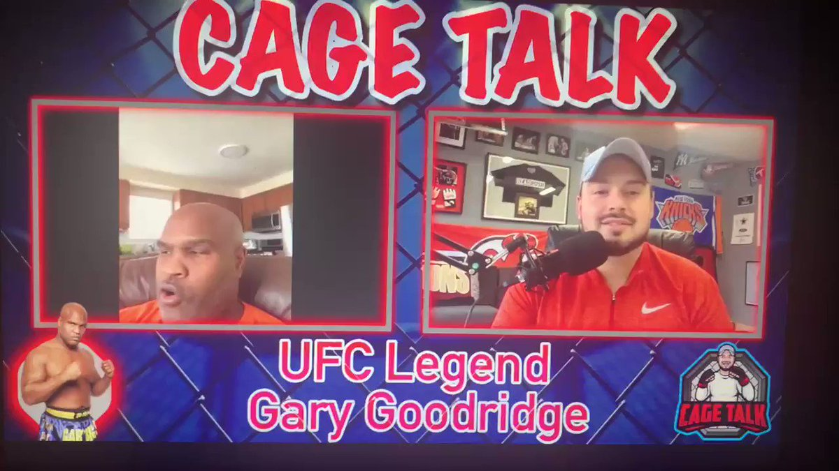 UFC legend @garyhgoodridge  talking about his famous crucifix KO.   #ufc #MMATwitter https://t.co/ooeCoZ9qda