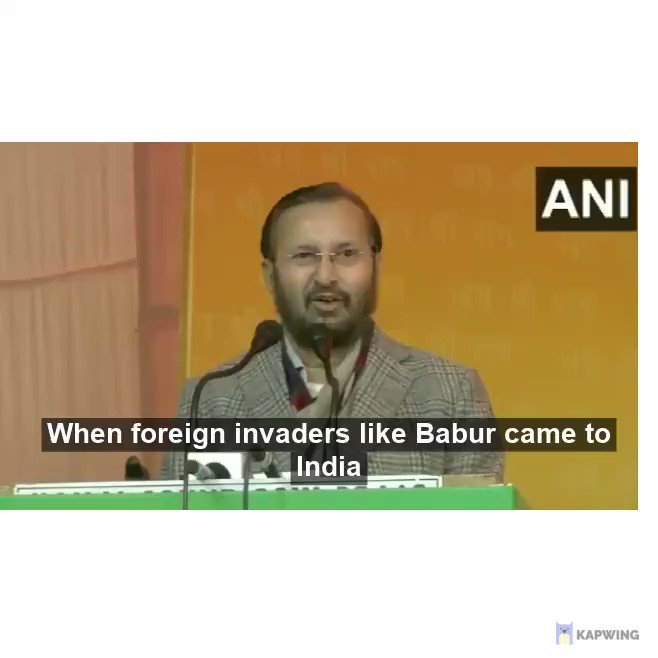 Demolition of Babri Masjid by the RSS terrorists who unfortunately run the Hindutva regime in India today have committed a historical wrong which will be righted either by the International court or by the righteous Muslims themselves. Don't distort facts mr @PrakashJavdekar
