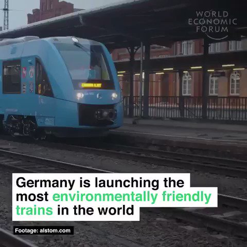 Germany 🇩🇪 launched the most environmentally friendly trains in the world. They are powered by hydrogen and oxygen. The only waste they produce is water.  We have the solutions. Time to ditch fossil fuels and implement them.  #ActOnClimate #climate #energy #tech #renewables