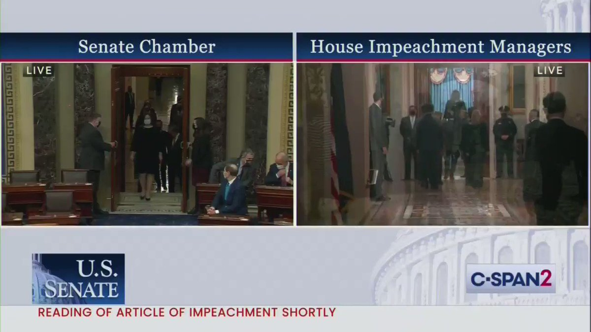 The Senate has received the latest article of impeachment against Trump