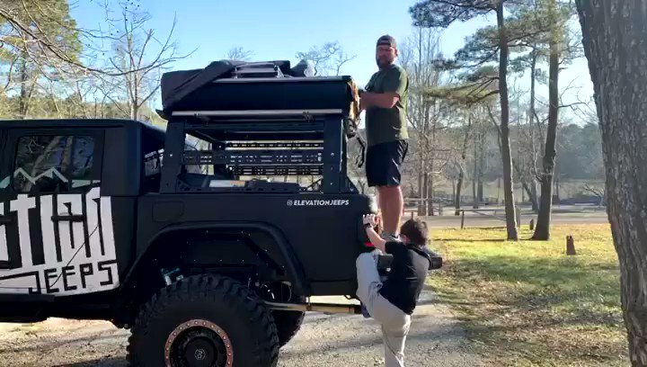 Setting up ⛺️   #Camping #Jeep #JeepGladiator #JeepLife #FamilyTime #Houston