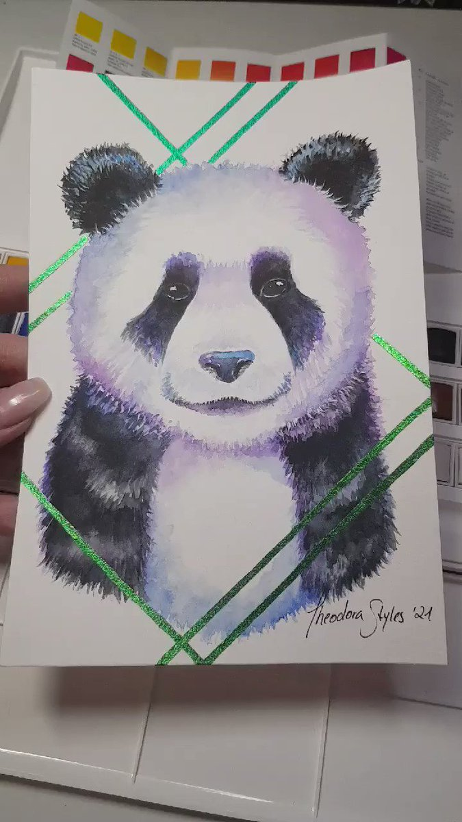 We finished the Pandaaaa 😍 Thank you for the short (9 hour) stream everybody 💙😏😅  #art #twitch #twitchstreamer