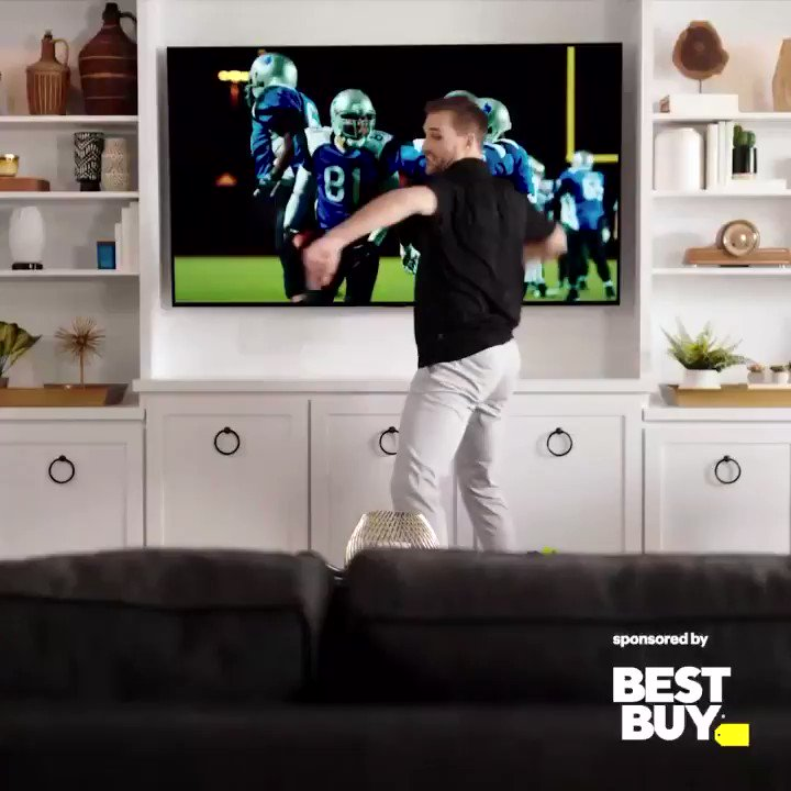 It's the big game, so let's go big… and the 77-inch class LG OLED TV from @Bestbuy is pretty big! Every angle in the house is a good angle with such a detailed picture quality. #ad