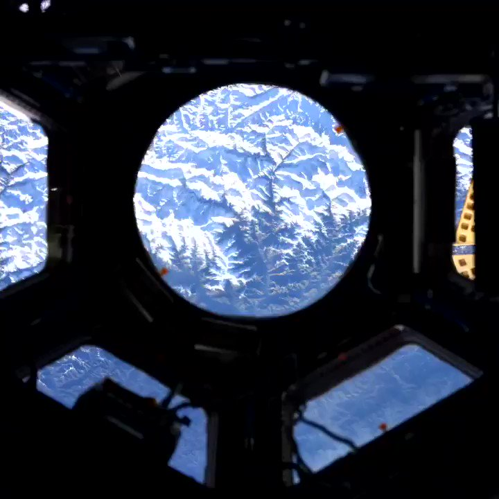 Snapping away as the Himalayas glide by. They really do seem that close even from 250 miles up on @Space_Station.