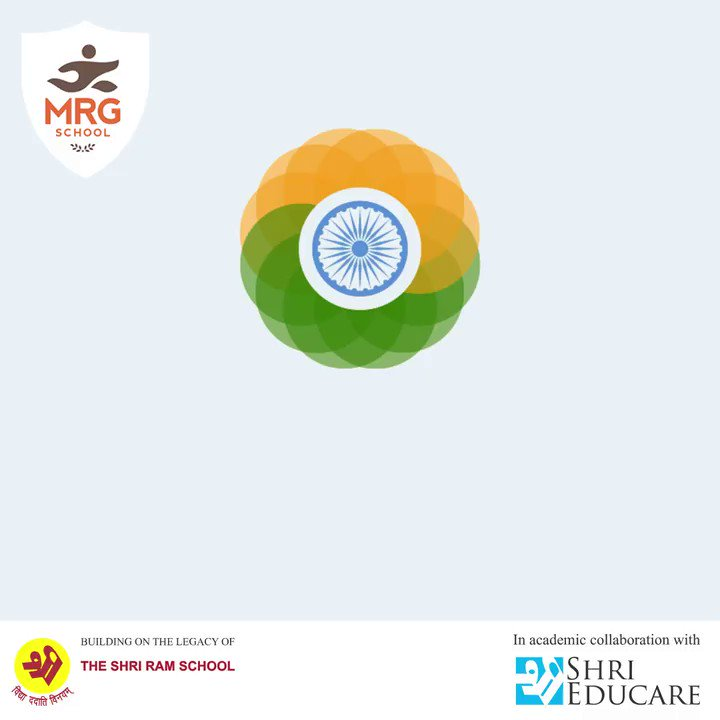 "Freedom in the mind, Strength in the words, Pureness in our blood, Pride in our souls, Zeal in our hearts, Let's salute our India on Republic Day.  MRG School wishes all a very ""Happy Republic Day""  #republicday #india #indian #photography #happyrepublicday #republicdayindia"